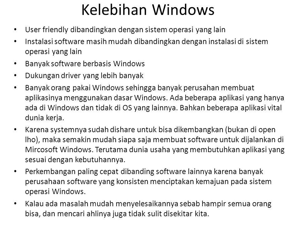 Kelebihan Kekurangan Windows
