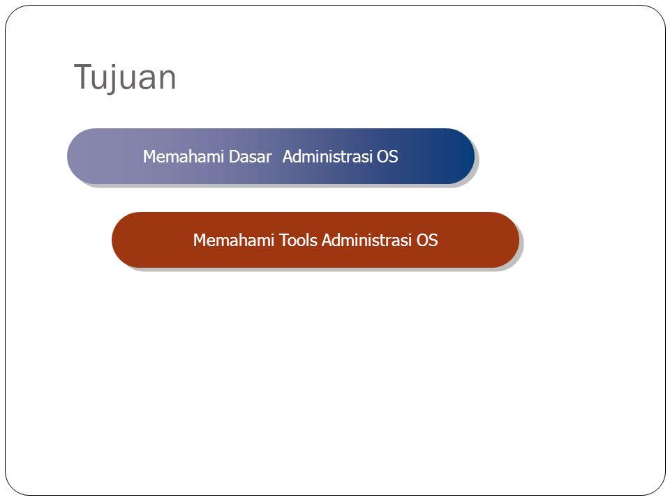 Tujuan Memahami Dasar Administrasi OS Memahami Tools Administrasi OS