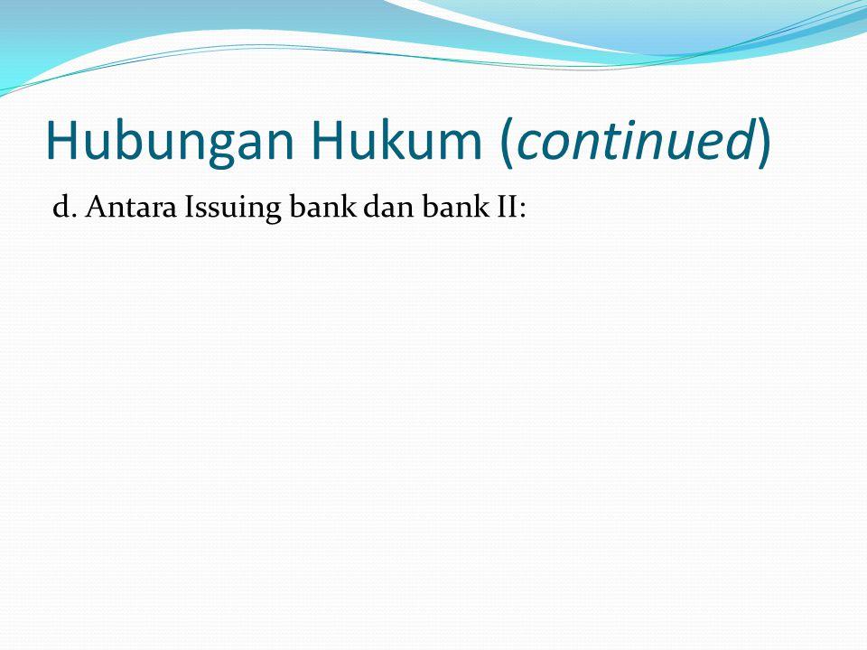 Kewajiban Para Pihak a.Pembeli: membayar kepada Bank b.