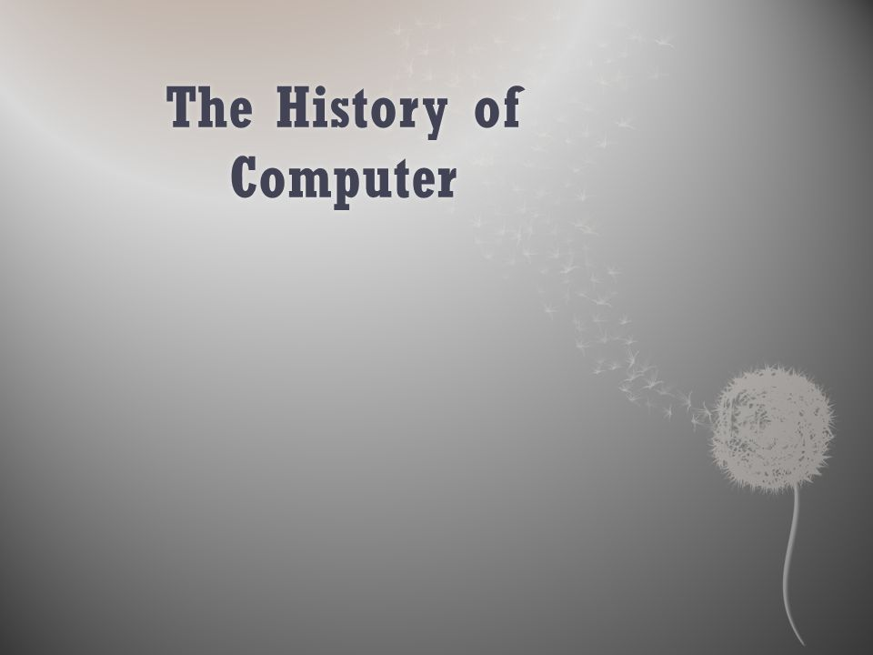  Beginning of computers set up by a British mathematics professor, Charles Babbage.