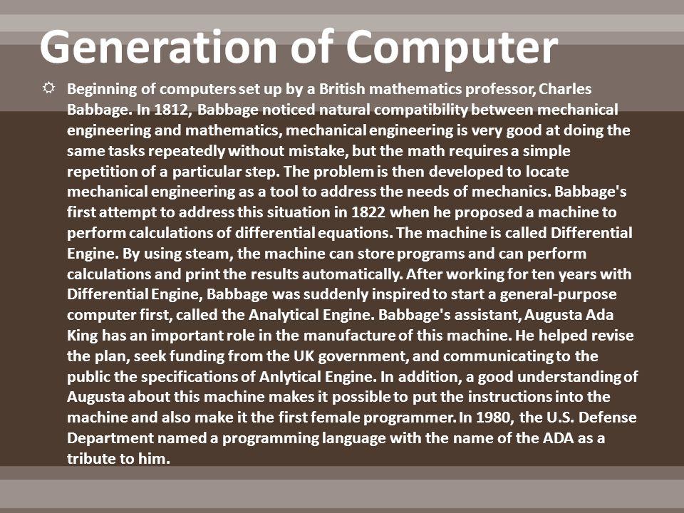 Bentuk Awal Dari Komputer