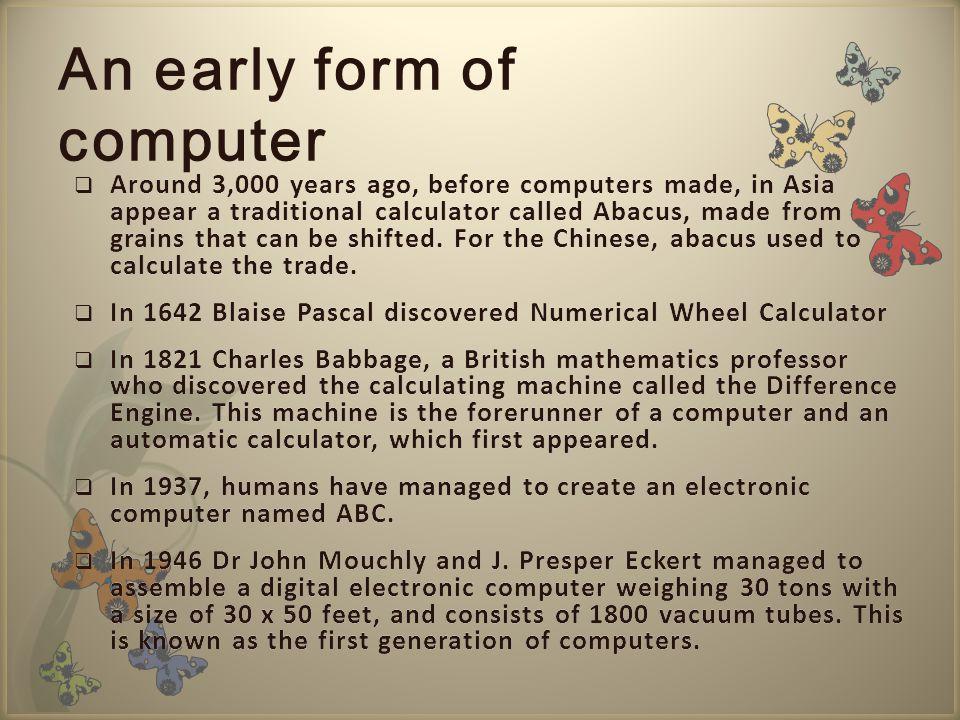 Saat ini, komputer dan piranti pendukungnya telah masuk dalam setiap aspek kehidupan dan pekerjaan yang lebih dari sekedar perhitungan matematik biasa