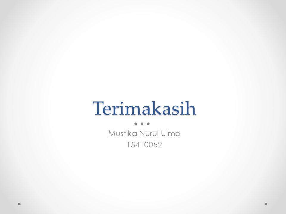 Terimakasih Mustika Nurul Ulma 15410052