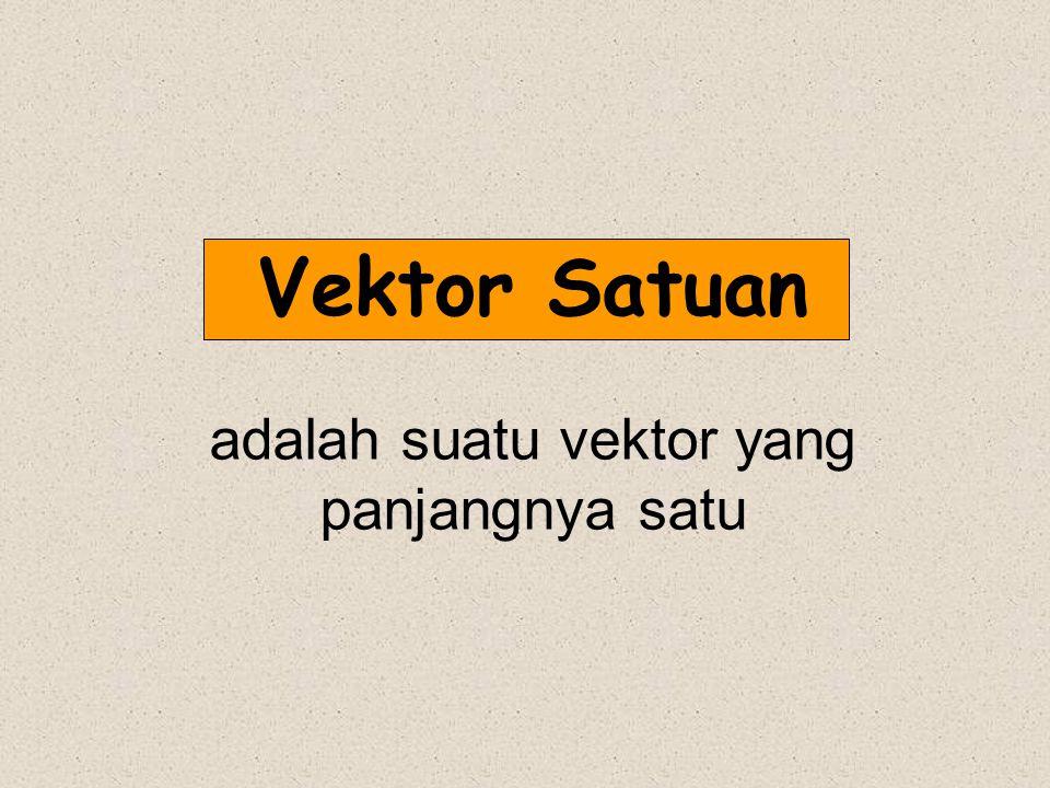 Vektor Satuan adalah suatu vektor yang panjangnya satu