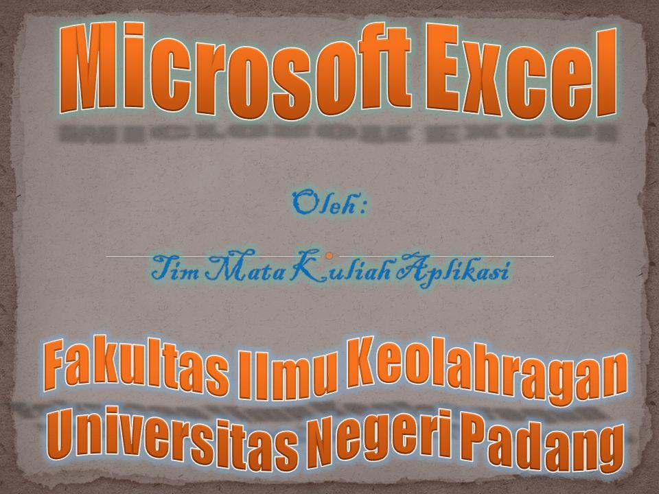 Microsoft Excel, untuk selanjutnya disingkat Excel, adalah program aplikasi yang banyak digunakan untuk membantu menghitung, memproyeksikan, menganalisa, dan mempresentasikan data.