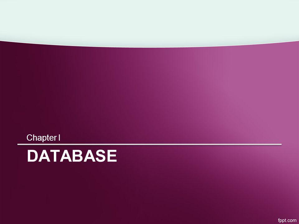 DATABASE Chapter I