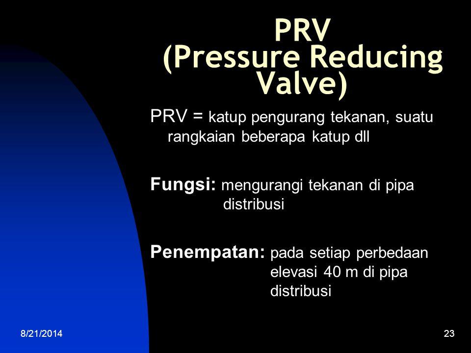 8/21/201424 KATUP PELEPAS TEKANAN Katup pelepas tekanan = pressure relief valve Fungsi: melepaskan tekanan berlebih dari tekanan yang sudah ditetapkan Penempatan: seperti PRV