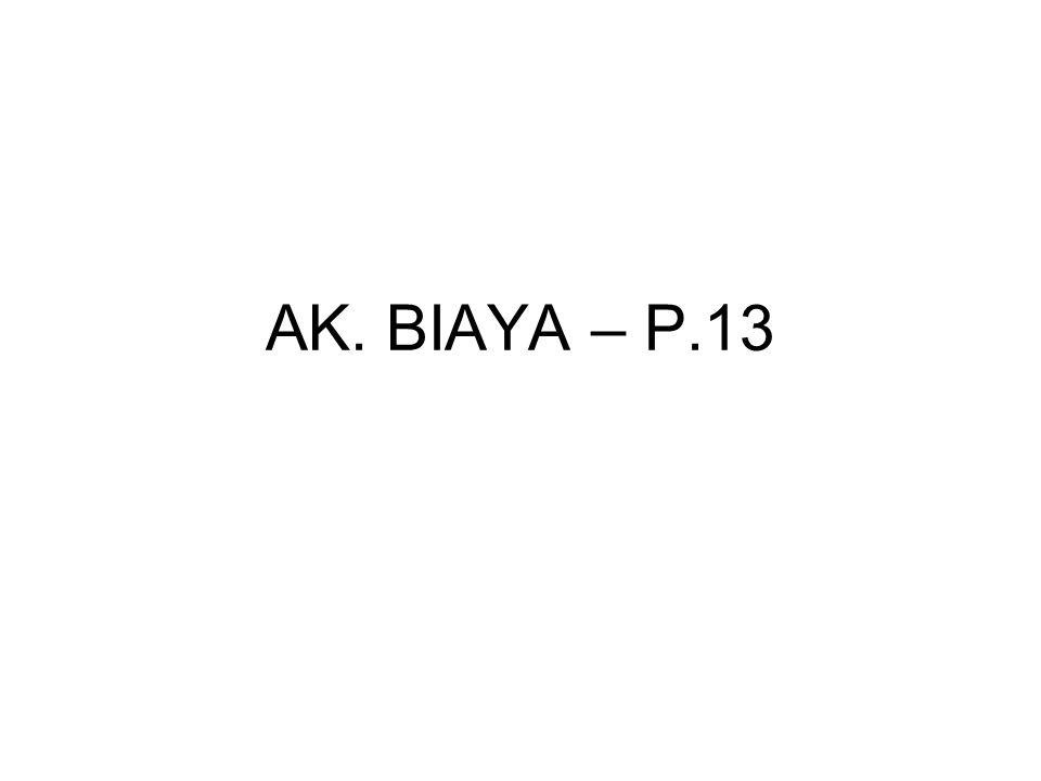 AK. BIAYA – P.13