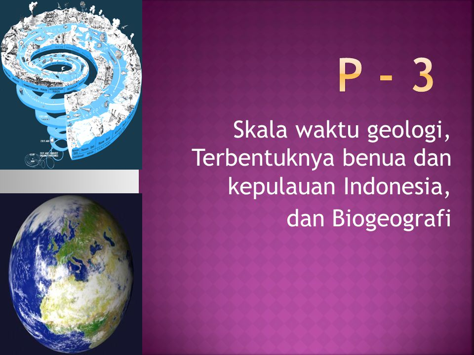 Skala waktu geologi digunakan oleh para ahli geologi dan ilmuwan untuk menjelaskan waktu dan hubungan antar peristiwa yang terjadi sepanjang sejarah Bumigeologisejarah Bumi