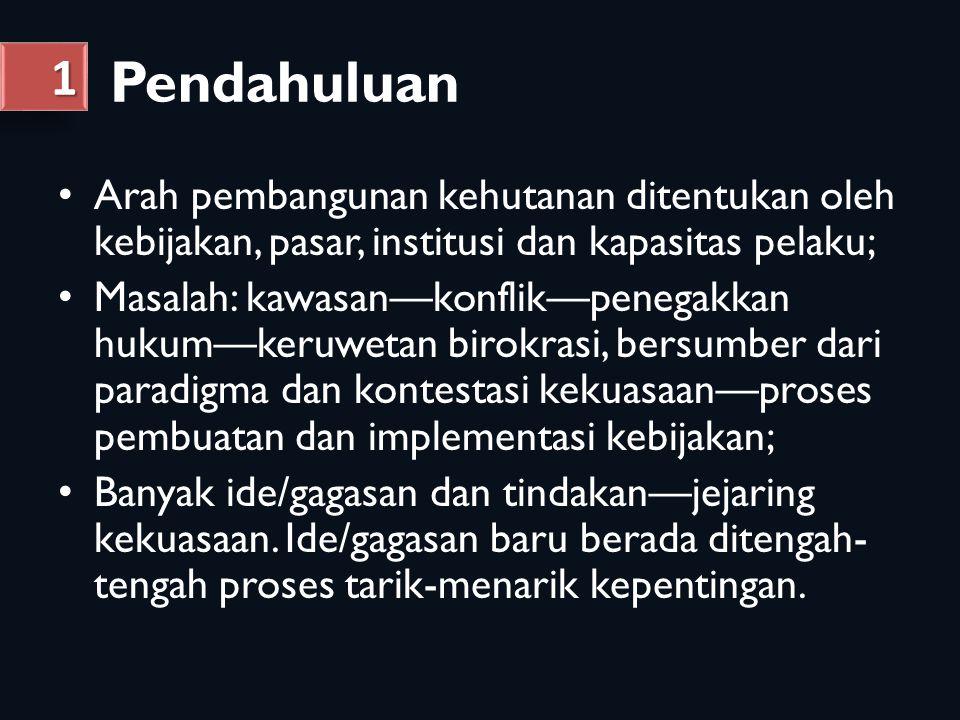 PULAU/ REGION-AL PARAMETER (Persentase) PROPORSI LUAS KH TERHADAP PULAU PENGUKUH- AN KH (penetapan KH) USULAN PERUBAHAN KH DALAM RTRWP WILAYAH PENGELO- LAAN DI TINGKAT TAPAK KONFLIK PEMANFA- ATAN /PENGGUNA AN KH WILAYAH ADAT DESA DI DALAM, TEPI DAN SEKITAR KH SUMATERA 54,6227,2823,8370,26Tinggi 10.771 JAWA 27,9465,900,0092,28 Sedang- tinggi Rendah 2.935 BALI, NUSRA 37,9326,490,0076,74Rendah 3.157 KALIMAN- TAN 65,8419,7622,9079,81Tinggi 6.404 SULAWESI 64,2928,5113,6469,78Sedang 5.519 MALUKU 91,6820,8033,8455,94Sedang 2.010 PAPUA 96,995,024,6855,54RendahTinggi3.528 Kondisi Pengelolaan Kawasan Hutan Nasional, 2011 Pemetaan Isu Kehutanan 22