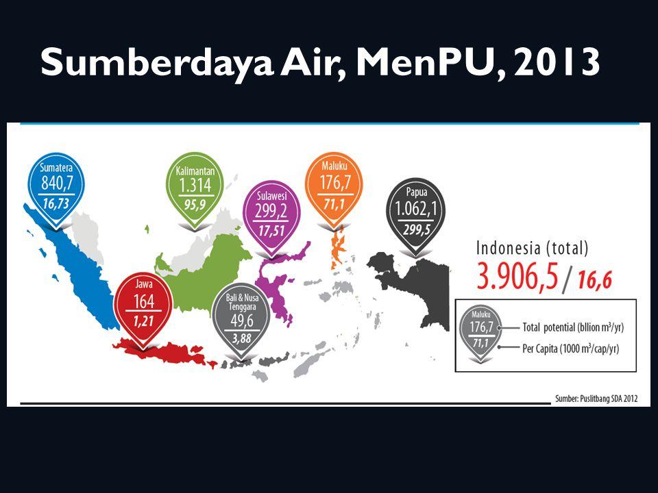 Air Maya Produk Hasil Pertanian 2010 Menurut Pulau Utama Indonesia 7 Sub-sektor yang ditinjau : 01.