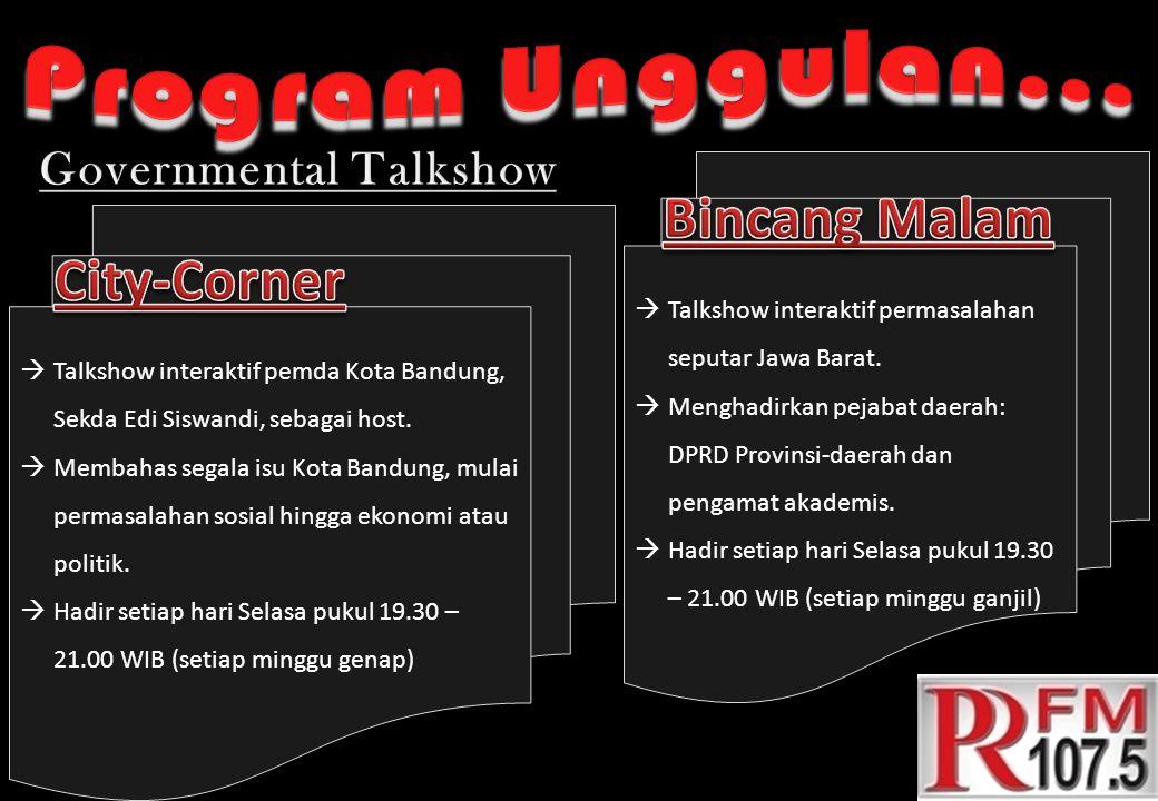  Talkshow interaktif pemda Kota Bandung, Sekda Edi Siswandi, sebagai host.