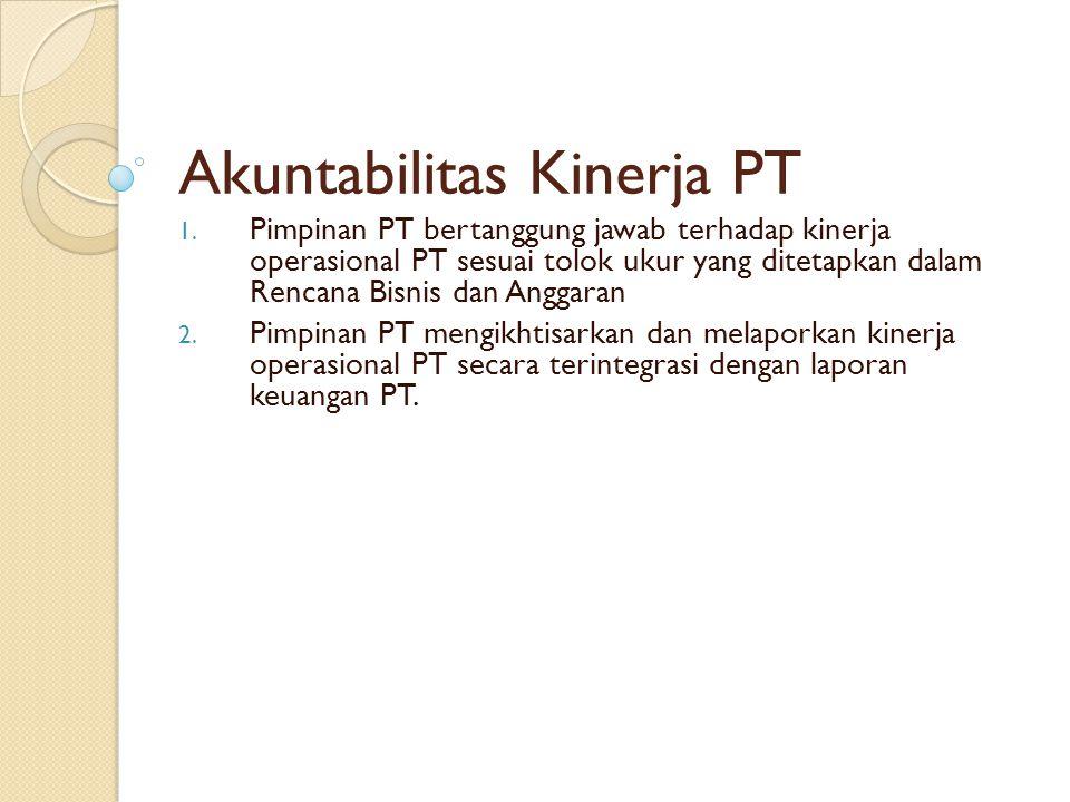 Akuntabilitas Kinerja PT 1.