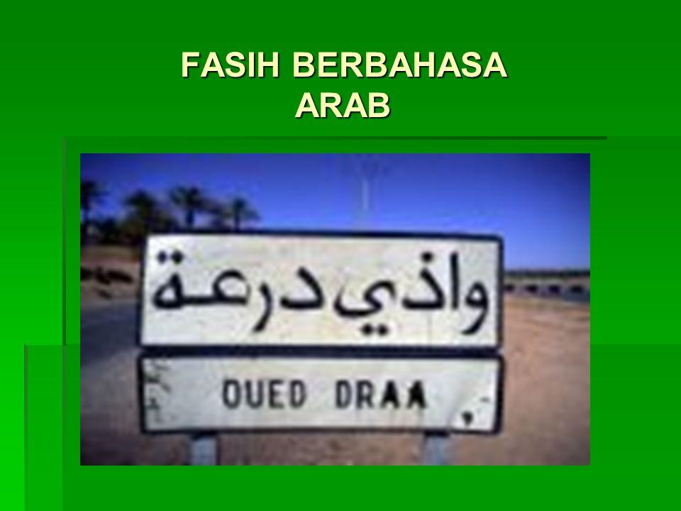 FASIH BERBAHASA ARAB