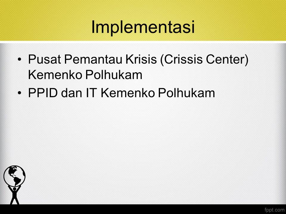 Implementasi Pusat Pemantau Krisis (Crissis Center) Kemenko Polhukam PPID dan IT Kemenko Polhukam