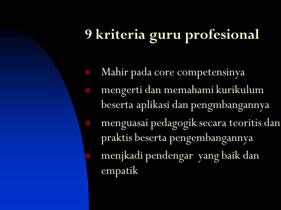 Prinsif-prinsif Pembelajaran Bermutu Segalanya berbicara Segalanya bertujuan Pengalaman sebelum pemberian nama Akui setiap usaha Jika layak dipelajari
