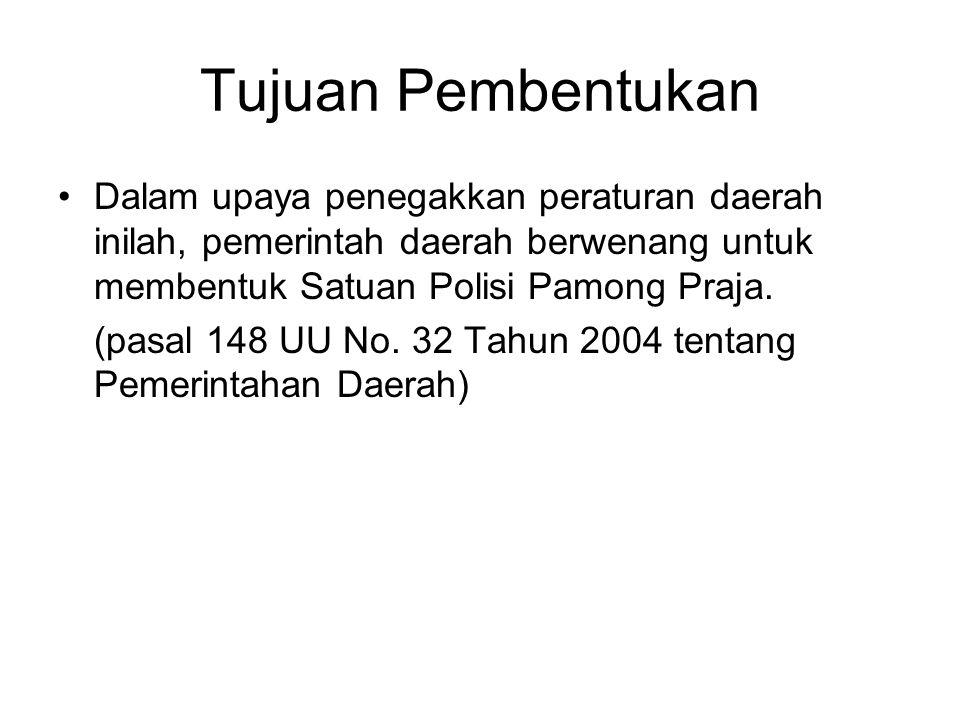 DASAR HUKUM UU No.32 Tahun 2004 tentang Pemerintahan Daerah PP No.