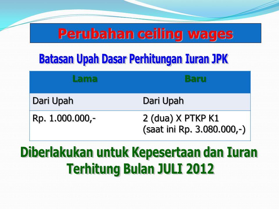 LamaBaru Dari Upah Rp.1.000.000,- 2 (dua) X PTKP K1 (saat ini Rp.