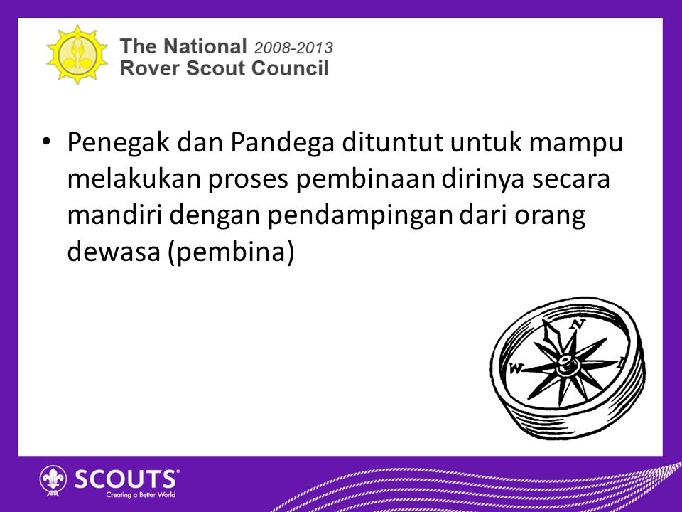  Pramuka Penegak dan Pandega memiliki 6 wadah pembinaan sebagai tempat dirinya menggembleng diri.