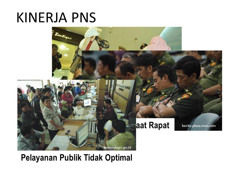 KINERJA PNS bengkuluekspress.com PNS Tertidur Saat Rapat berita.plasa.msn.com Pelayanan Publik Tidak Optimal kemendagri.go.id