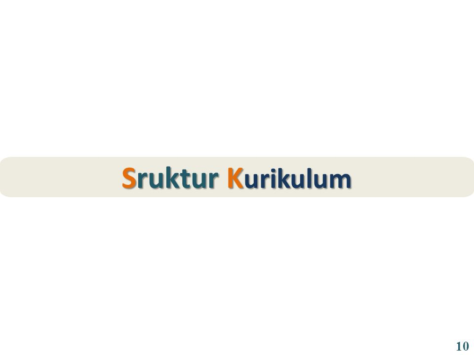 Sruktur K urikulum 10