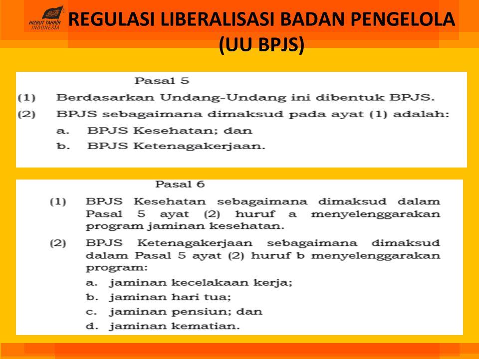 REGULASI LIBERALISASI BADAN PENGELOLA (UU BPJS)