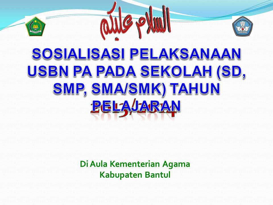 Di Aula Kementerian Agama Kabupaten Bantul