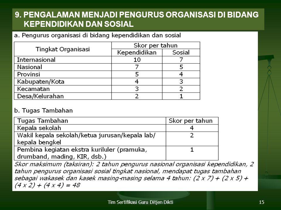 Tim Sertifikasi Guru Ditjen Dikti15 9.