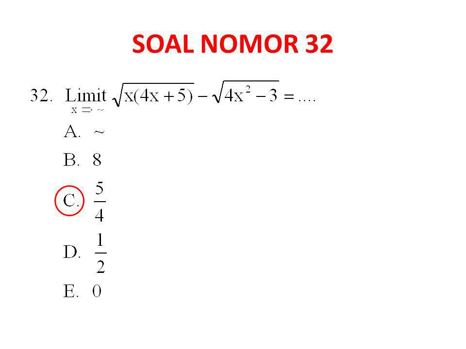 SOAL NOMOR 32