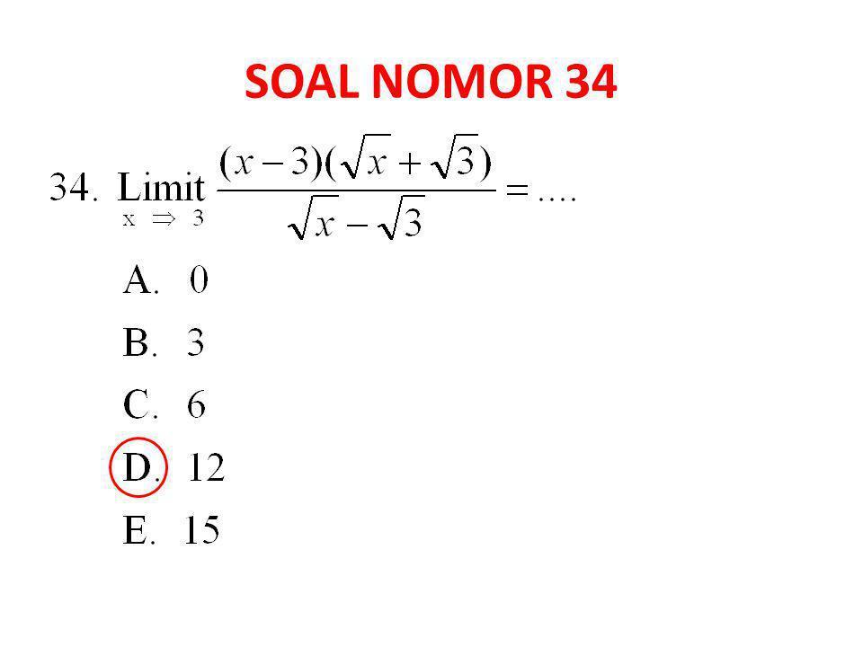 SOAL NOMOR 34