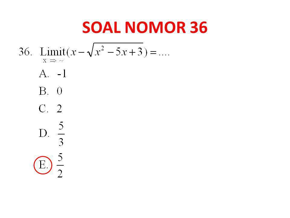 SOAL NOMOR 36