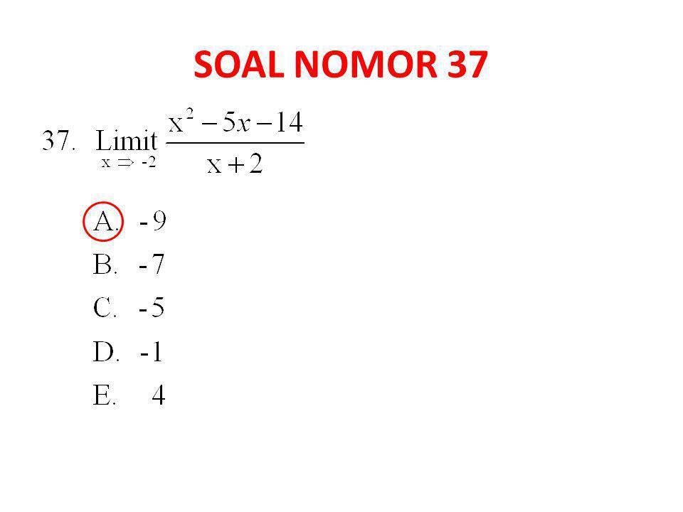 SOAL NOMOR 37