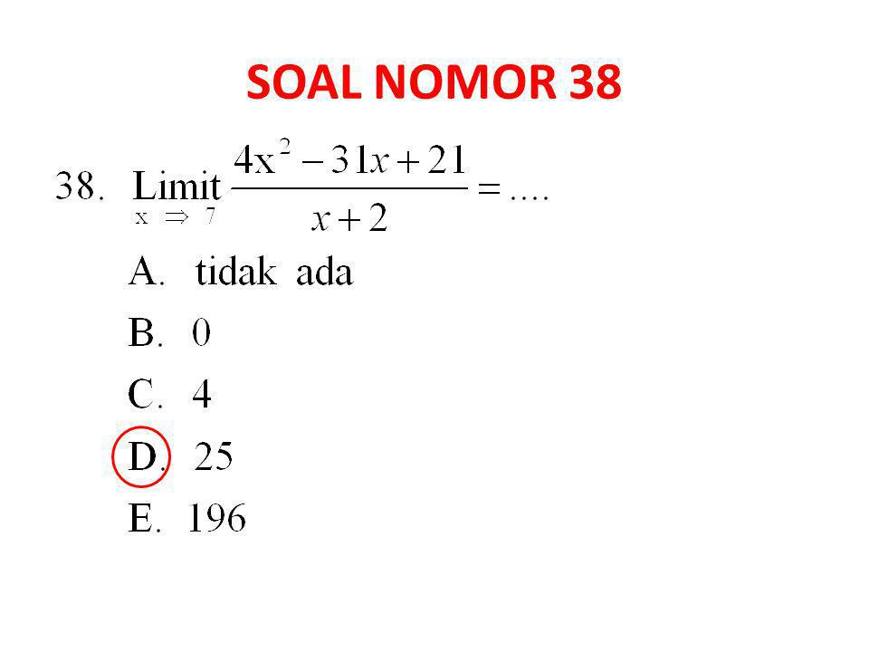 SOAL NOMOR 38