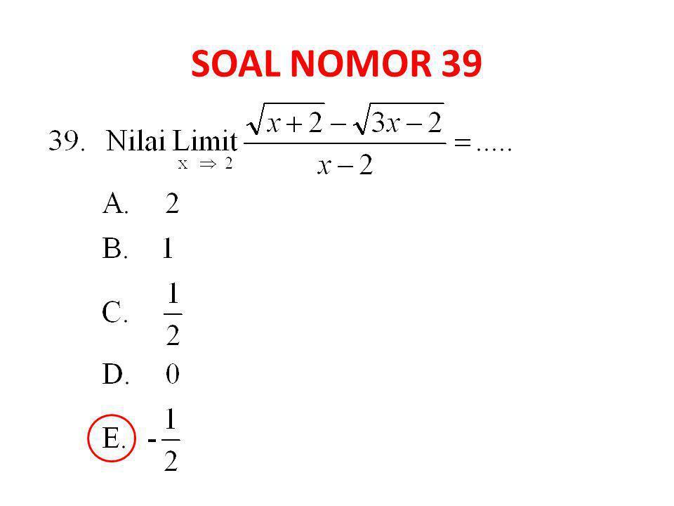 SOAL NOMOR 39