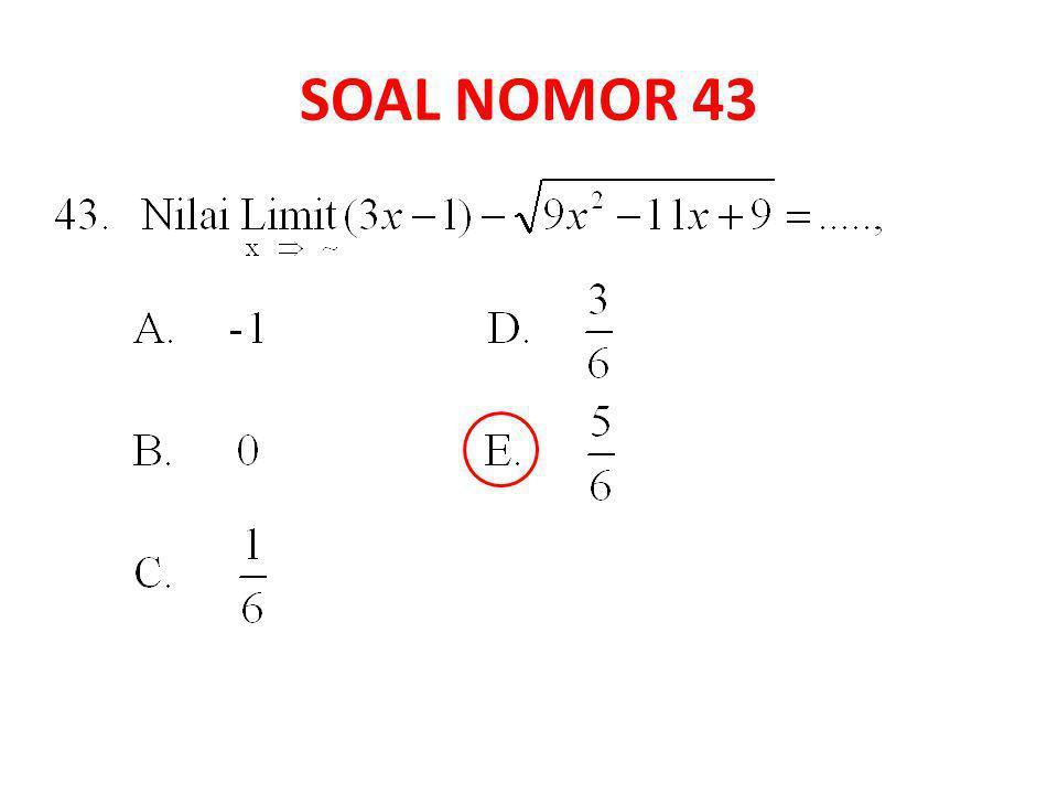 SOAL NOMOR 43