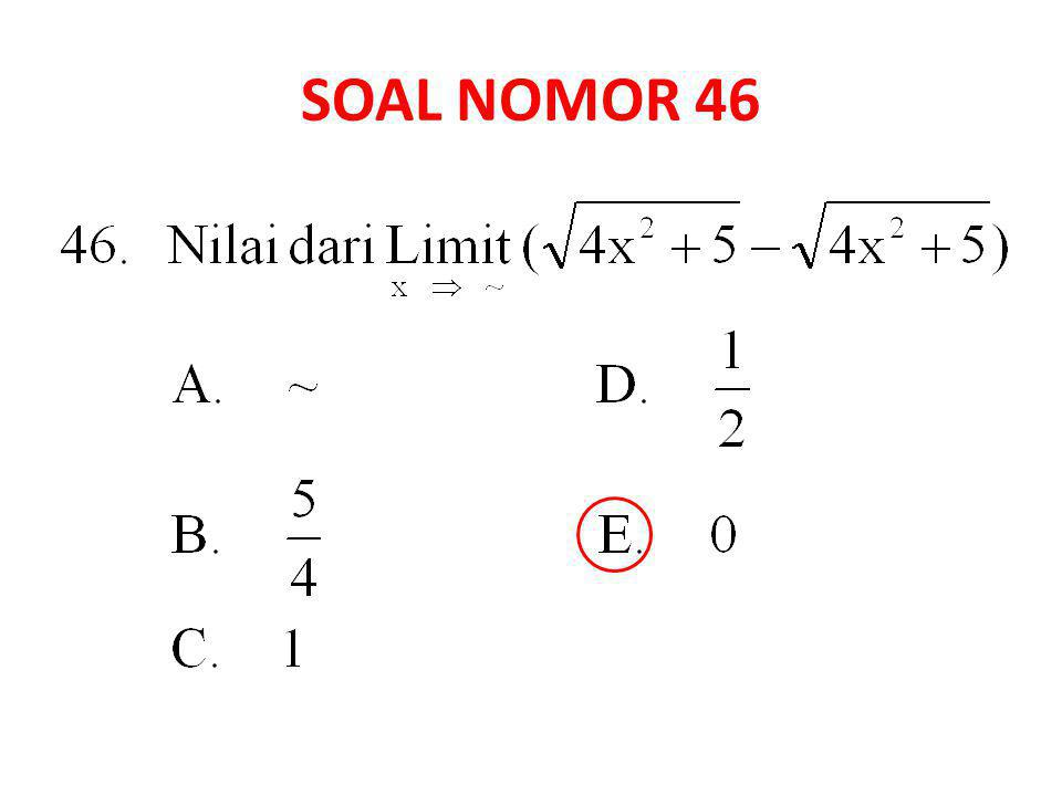 SOAL NOMOR 46