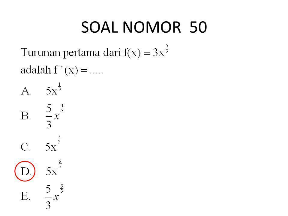 SOAL NOMOR 50