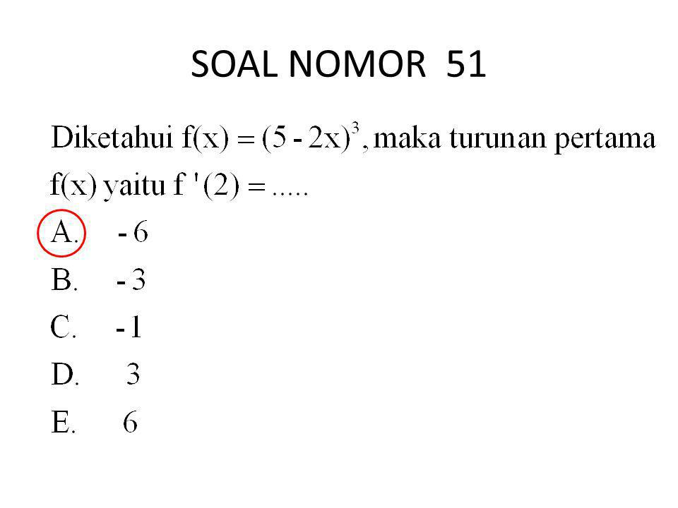 SOAL NOMOR 51
