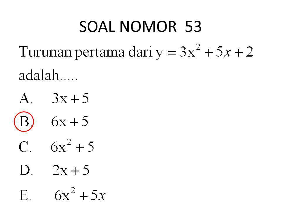 SOAL NOMOR 53