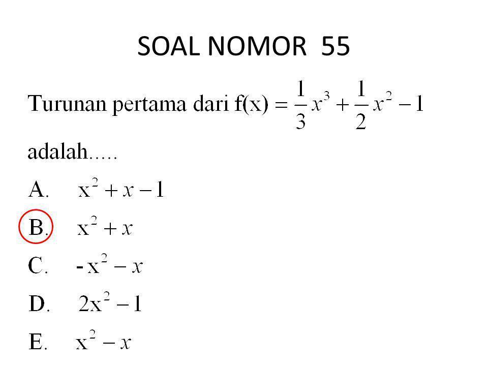 SOAL NOMOR 55