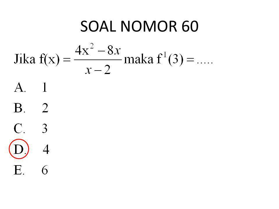 SOAL NOMOR 60