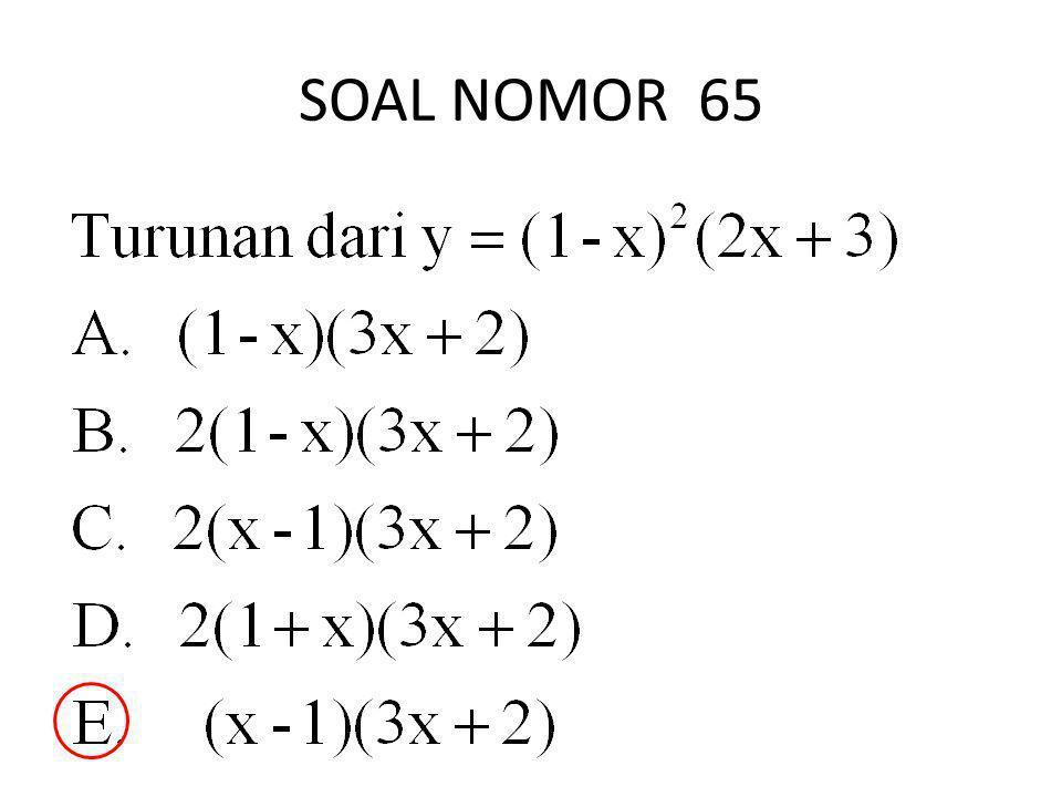 SOAL NOMOR 65