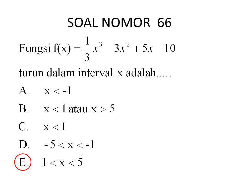 SOAL NOMOR 66