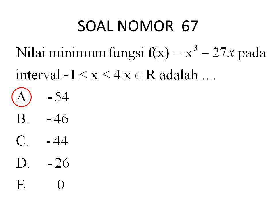 SOAL NOMOR 67