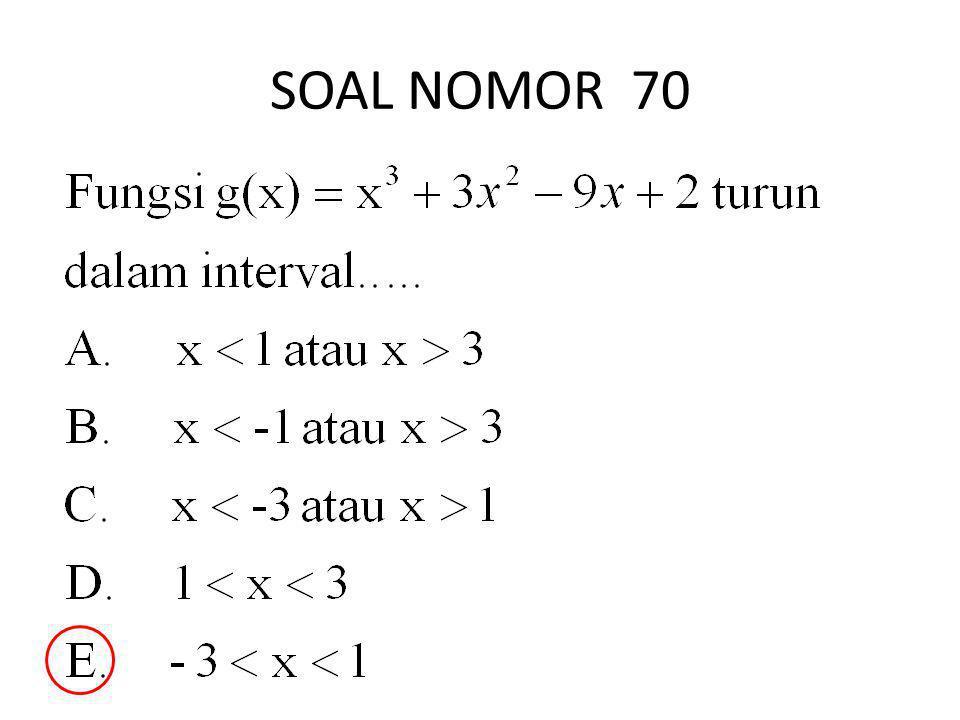 SOAL NOMOR 70