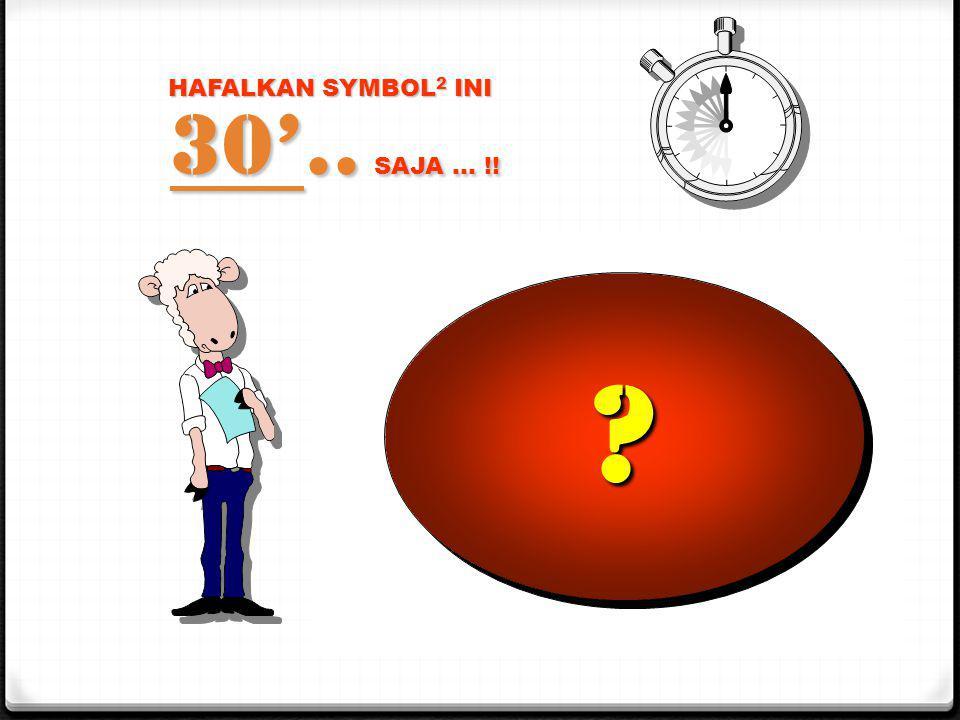HAFALKAN SYMBOL 2 INI 30'.. SAJA … !! 1 = 2 = 3 = 4 = 5 = 6 = 7 = 8 = 9 = 0 = ???