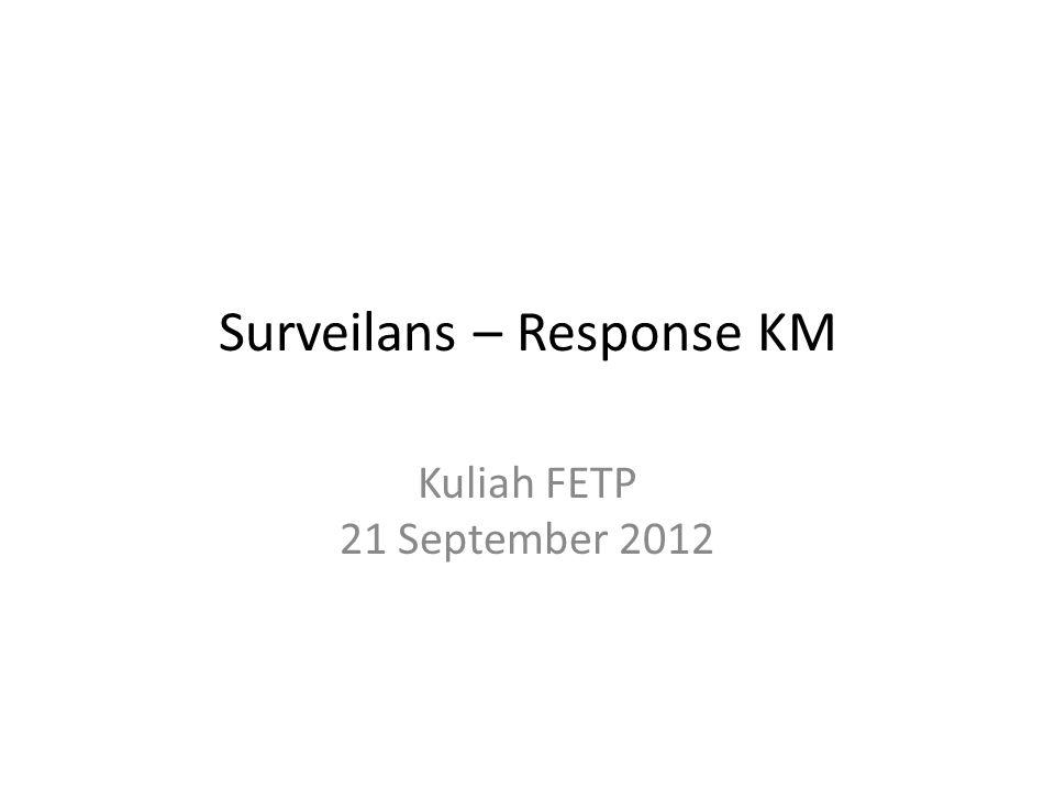 Surveilans – Response KM Kuliah FETP 21 September 2012