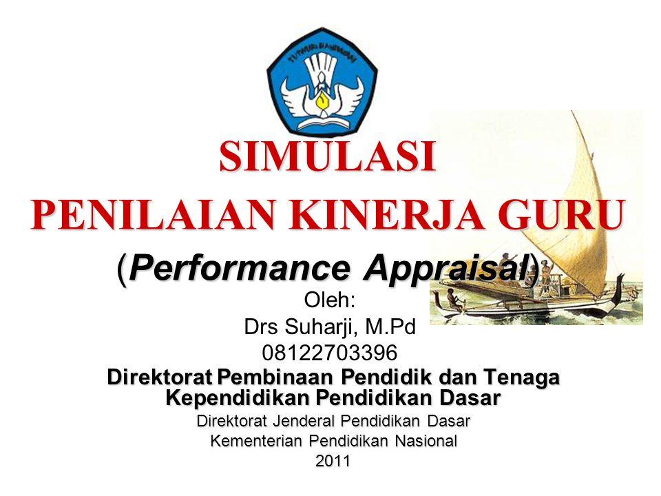 SIMULASI PENILAIAN KINERJA GURU (Performance Appraisal) Direktorat Pembinaan Pendidik dan Tenaga Kependidikan Pendidikan Dasar Direktorat Jenderal Pen
