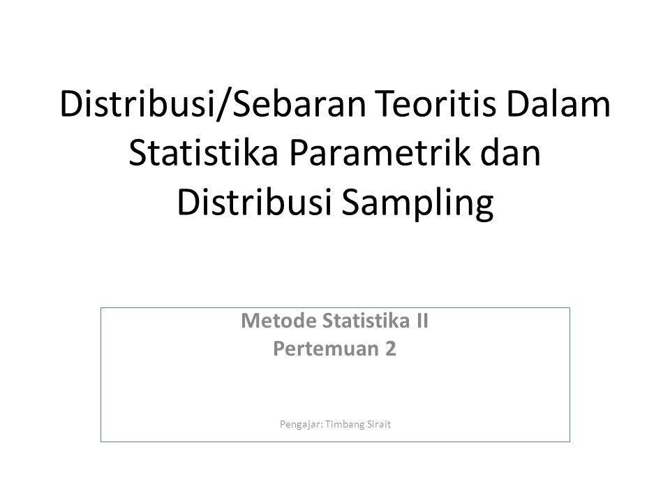 Distribusi Peubah Acak (Variabel Random) Distribusi Diskrit (countable) Distribusi Kontinu (uncountable)