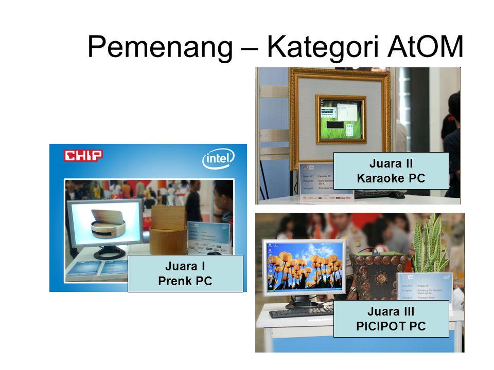 Pemenang – Kategori AtOM Juara I Prenk PC Juara II Karaoke PC Juara III PICIPOT PC